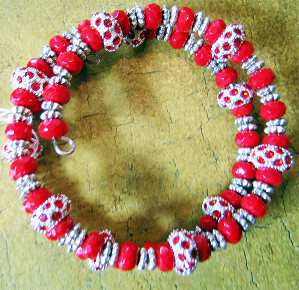 red-and-silver-bracelet
