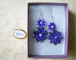 purple-flower-earrings
